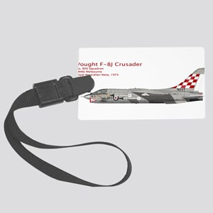 RAN Vought F-8J Crusader 1975 Large Luggage Tag