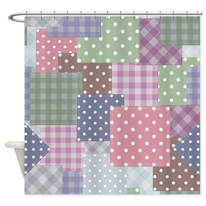 Country Quilt Pattern Shower Curtains