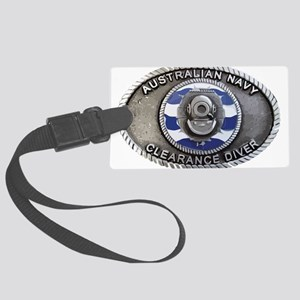 RAN Clearance Diver badge Large Luggage Tag