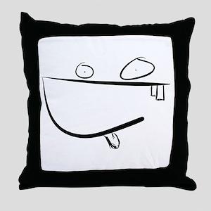 smile monster Throw Pillow