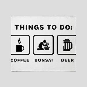 Bonsai Lover Throw Blanket