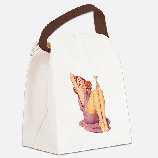 Bottoms Up! Canvas Lunch Bag