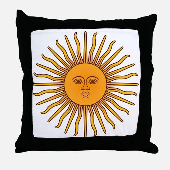 Sol de Mayo Throw Pillow