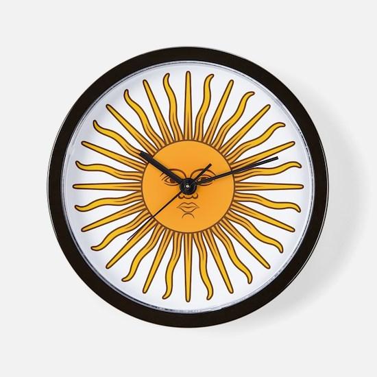Sol de Mayo Wall Clock