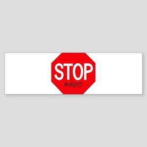 Stop Mario Bumper Sticker