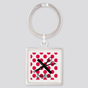 stylist SQUARE RED PENDANT Square Keychain
