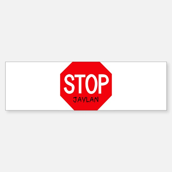 Stop Jaylan Bumper Car Car Sticker