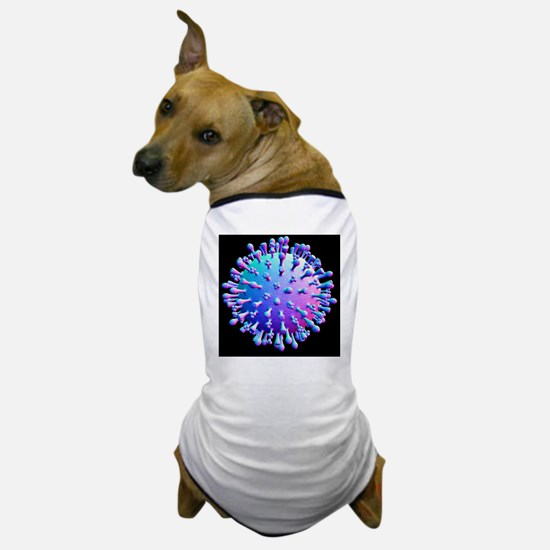 Avian flu virus particle, artwork - Dog T-Shirt
