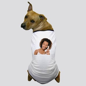 Woman chatting on a phone - Dog T-Shirt