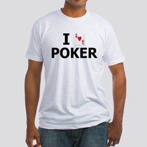 I Heart Poker Fitted T-Shirt
