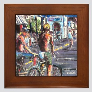 Framed Tile. The Strand, Hermosa Beach, California