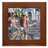 Hermosa beach Framed Tiles