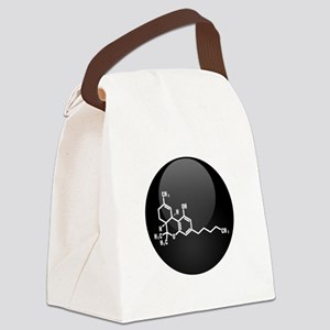 THC molecule button Canvas Lunch Bag
