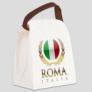 Roman Canvas Lunch Bag