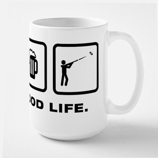 Skeet Shooting Large Mug