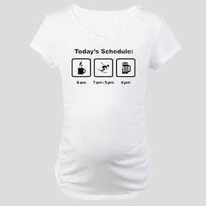 Skiing Maternity T-Shirt