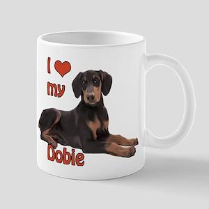 I heart my Doberman Mug