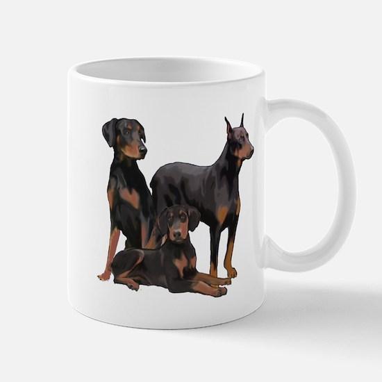 three dobermen Mug