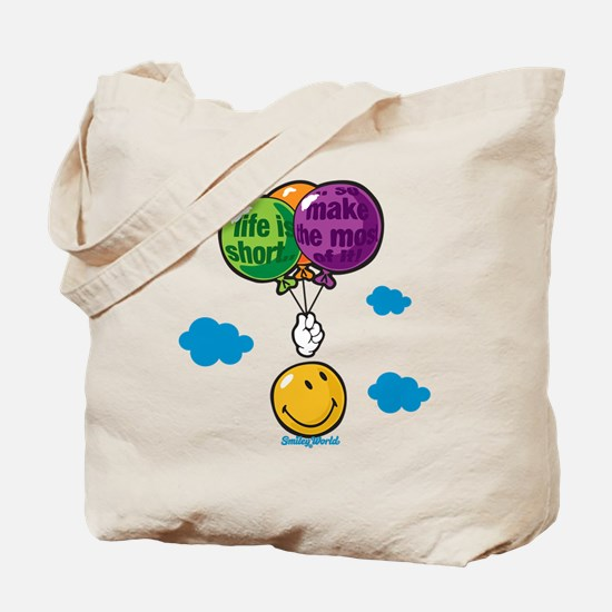 Ballon Smiley Tote Bag