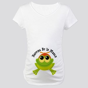 Hopping By In March Due Date Maternity T-Shirt