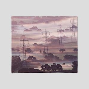 Electricity pylons - Throw Blanket