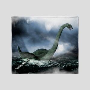 Loch Ness monster, artwork - Throw Blanket