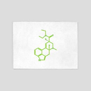LSD molecule 5'x7'Area Rug