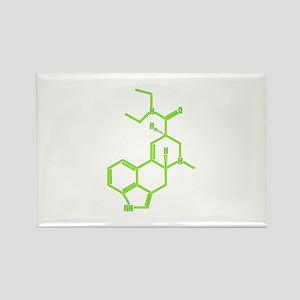 LSD molecule Rectangle Magnet