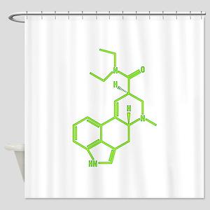 LSD molecule Shower Curtain