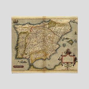 Ortelius's map of Iberian Peninsula, 1570 - Stadi