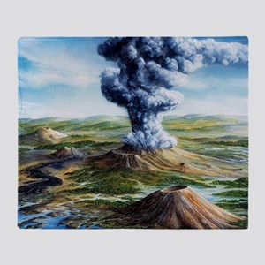 Ancient volcanic eruption - Throw Blanket