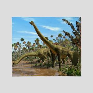 Brachiosaurus dinosaurs - Throw Blanket