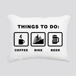 Mountain Biking Rectangular Canvas Pillow