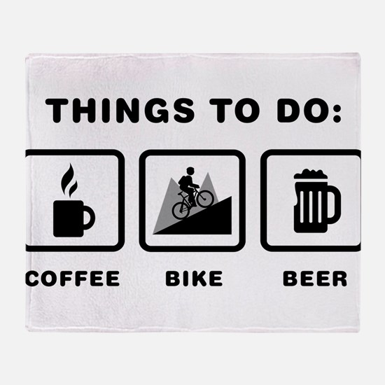 Mountain Biking Throw Blanket