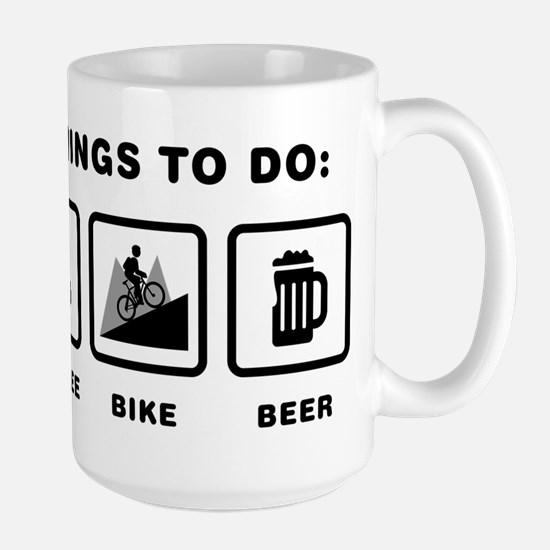 Mountain Biking Large Mug