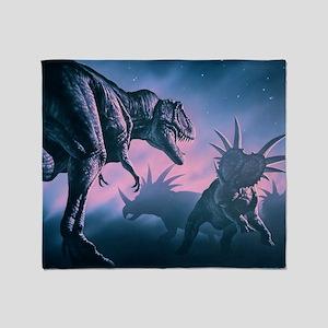 Daspletosaurus attacking styracosaurs - Stadium B
