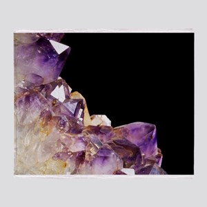 Amethyst crystals - Throw Blanket