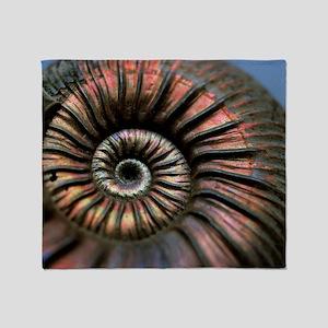 Ammonite fossil - Throw Blanket