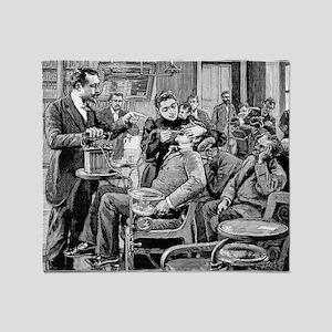 Dental surgery, 19th century - Throw Blanket