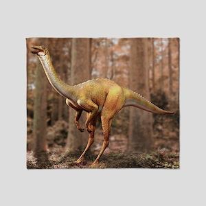 Gallimimus dinosaur - Throw Blanket
