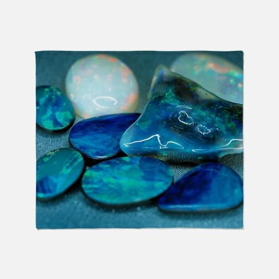 Opal gemstones - Throw Blanket