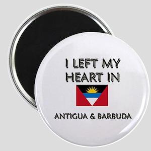I Left My Heart In Antigua & Barbuda Magnet