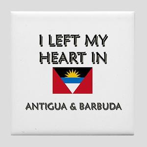 I Left My Heart In Antigua & Barbuda Tile Coaster