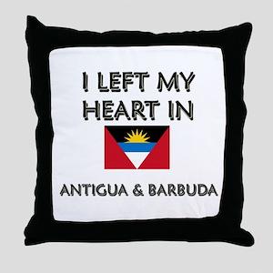 I Left My Heart In Antigua & Barbuda Throw Pillow