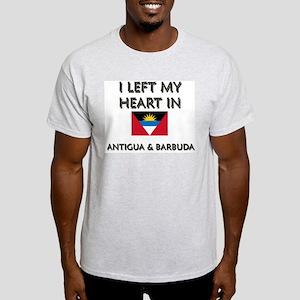I Left My Heart In Antigua & Barbuda Ash Grey T-Sh