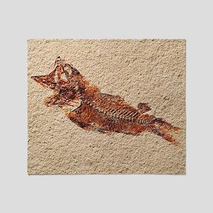 Fossilised fish - Throw Blanket