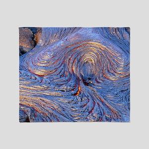 Pahoehoe lava from Kilauea volcano - Stadium Blan