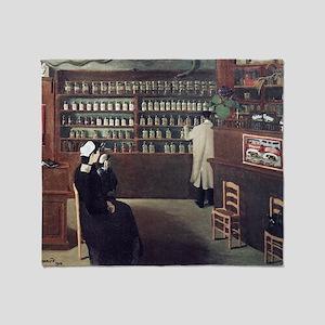The Pharmacy, 1912 artwork - Throw Blanket