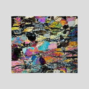 Peridotite rock - Throw Blanket