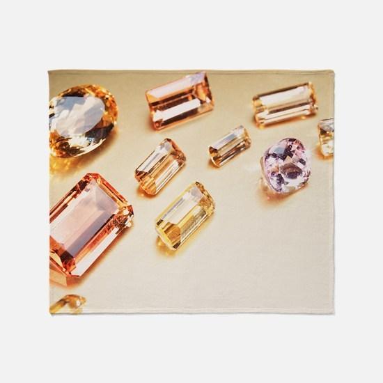 Topaz gemstones - Throw Blanket